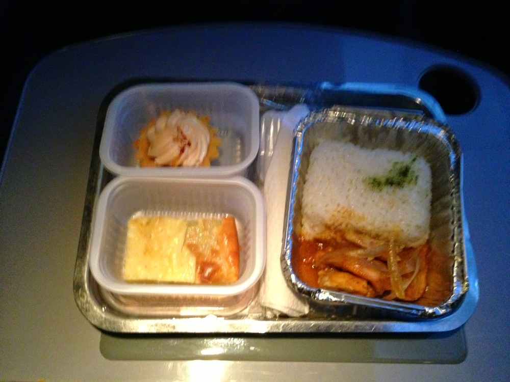 I was quite impressed with the bus food.