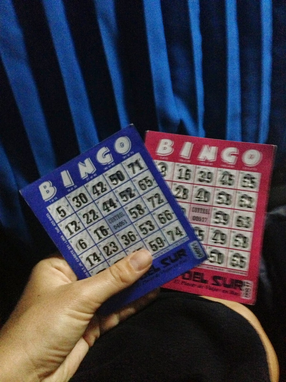 "Apparently when playing BINGO in South America, they skip the ""5 in a row"" phase and jump right to ""Black Out""."