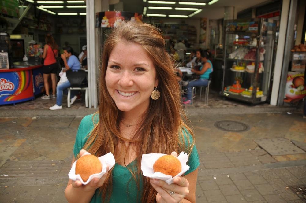 Buñuelo, a fried ball of dough - kind of like a savory doughnut