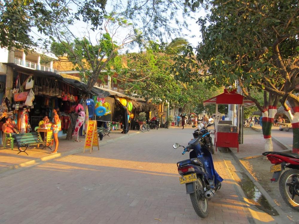 The main street in Taganga
