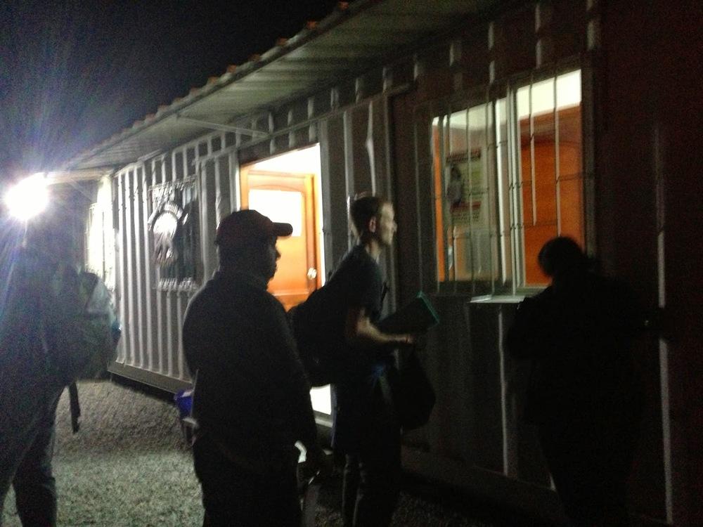 Border Crossing Ecuador to Peru Immigration Booth