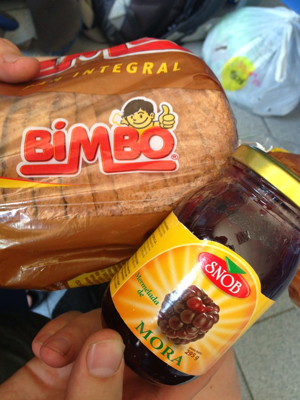"We ate lots of ""Bimbo and Snob"" sandwiches while waiting for our bus"