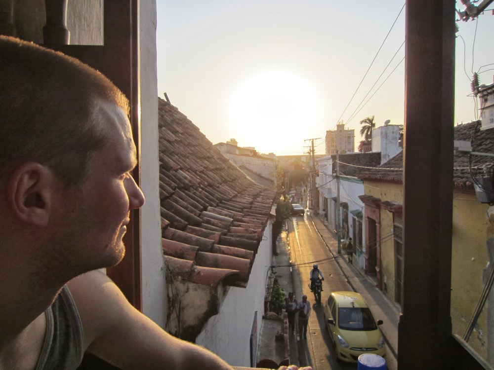 Cartagena street Sunset