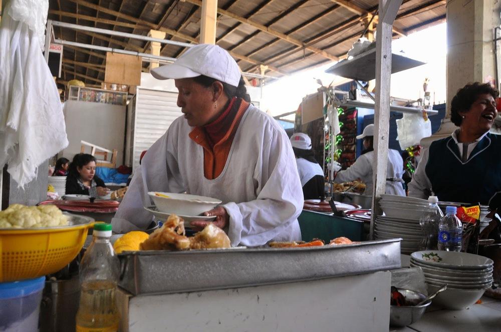Soup Stand San Pedro Market Cusco Peru