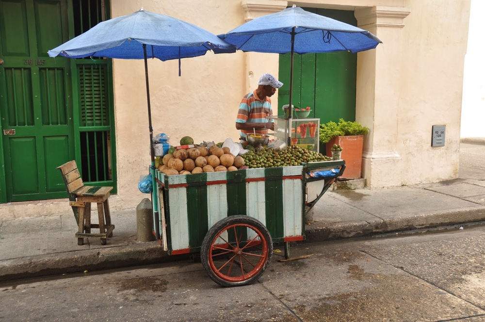 Fresh Fruit Cart in Cartagena