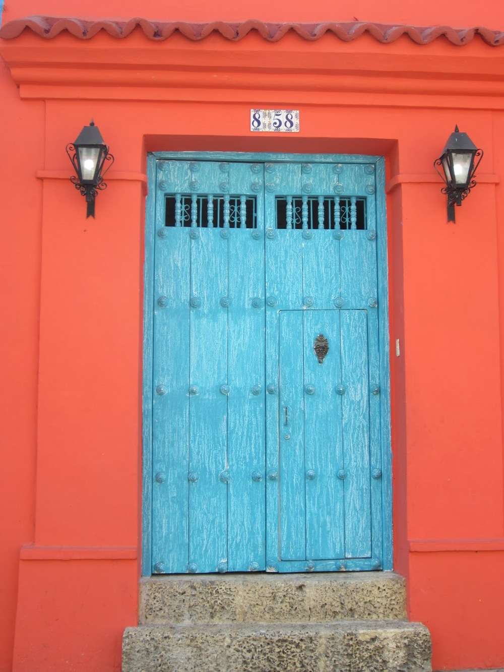 Colorful doors in Cartagena