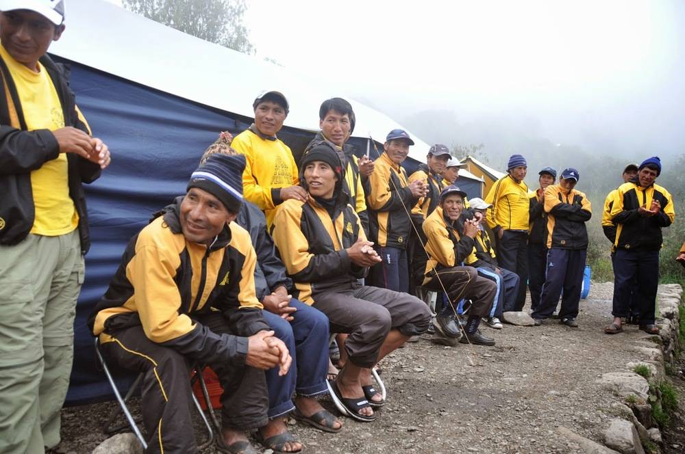 Our incredibly hard-working porters