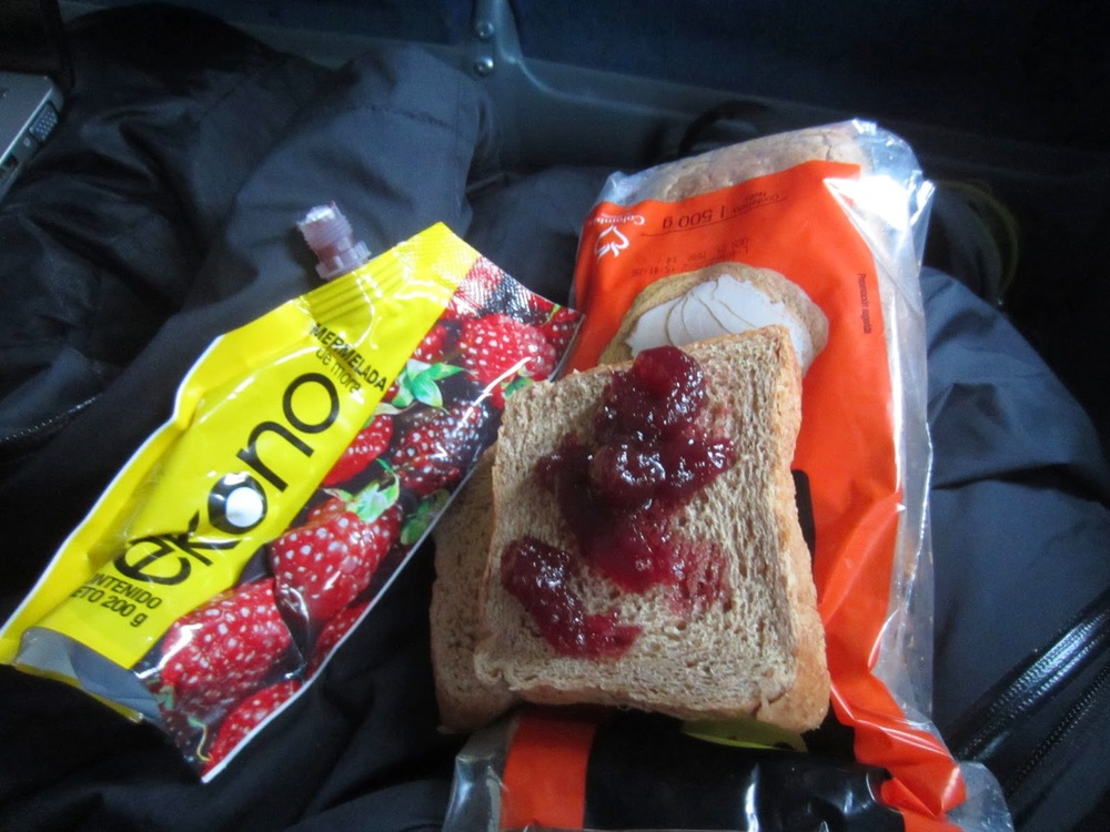 Oh, the life of a backpacker... jam sandwiches for 3 days straight.