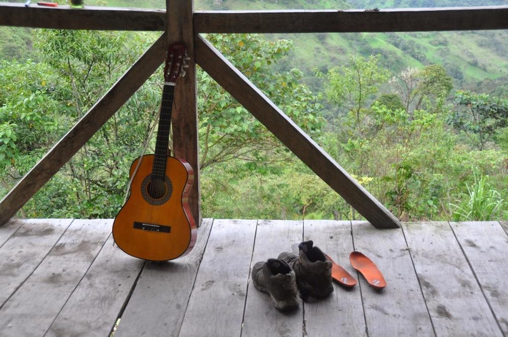 Guitar Finca Verde Farm Ecuador
