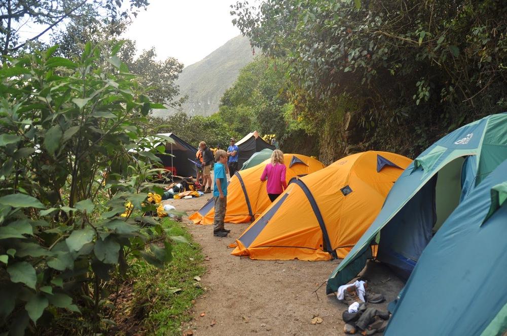 Tents Campsite Machu Picchu Inca Trail Cusco Peru