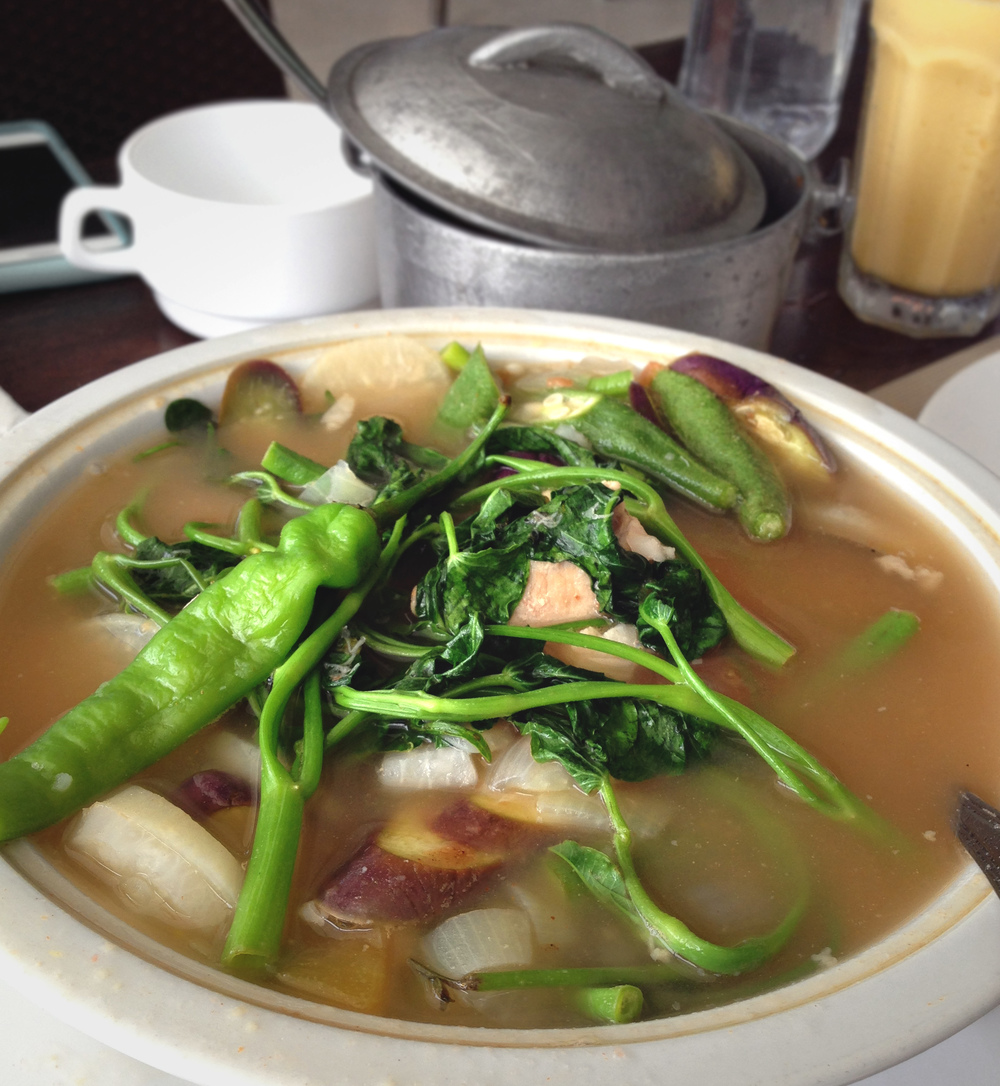 Filippino Sinigang Stew - one of our favorite local dishes