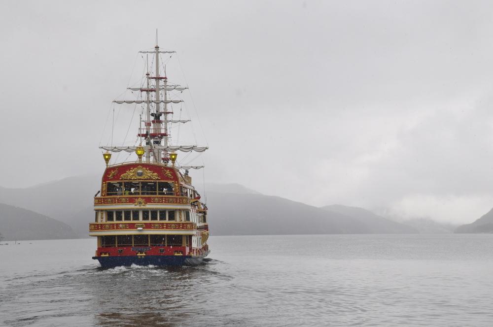 Mount Fuji Japan Pirate Ship
