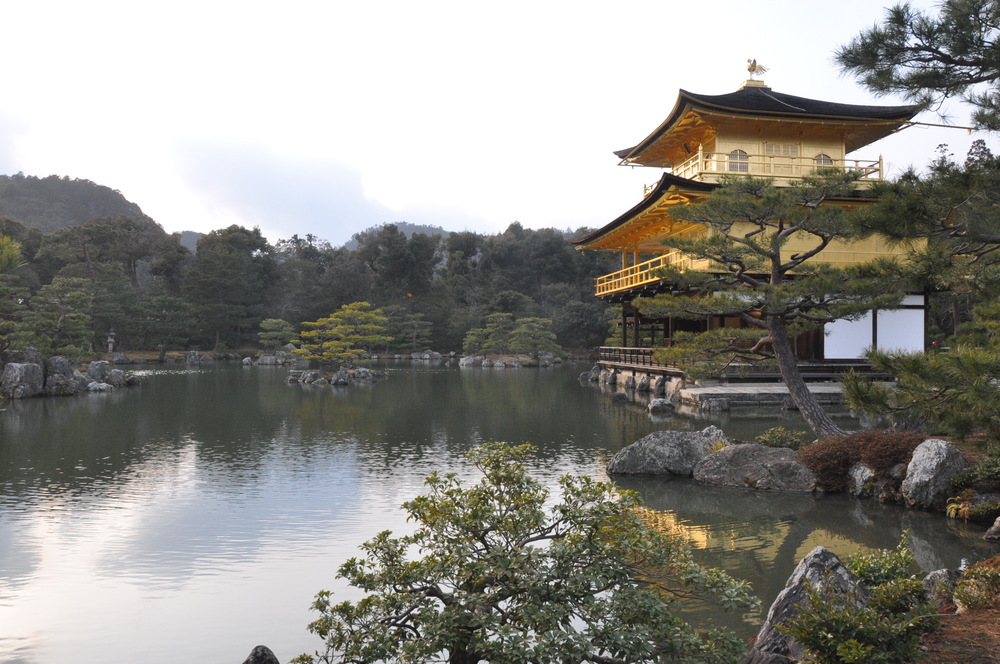 Japan Golden Temple Kinkaku-ji Golden Pavilion