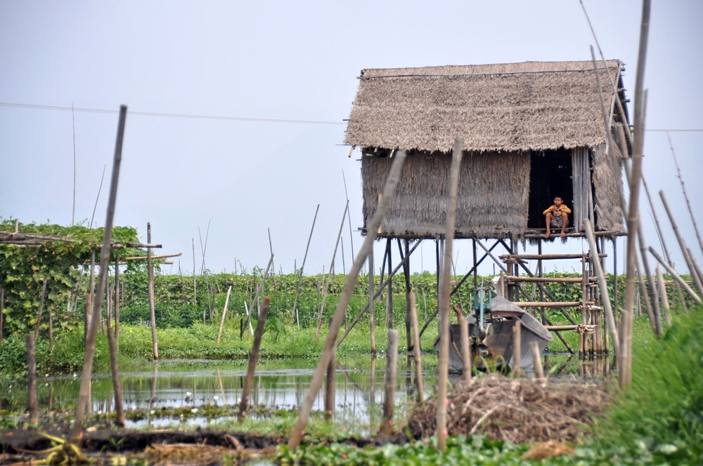 Myanmar Stilt House Inle Lake