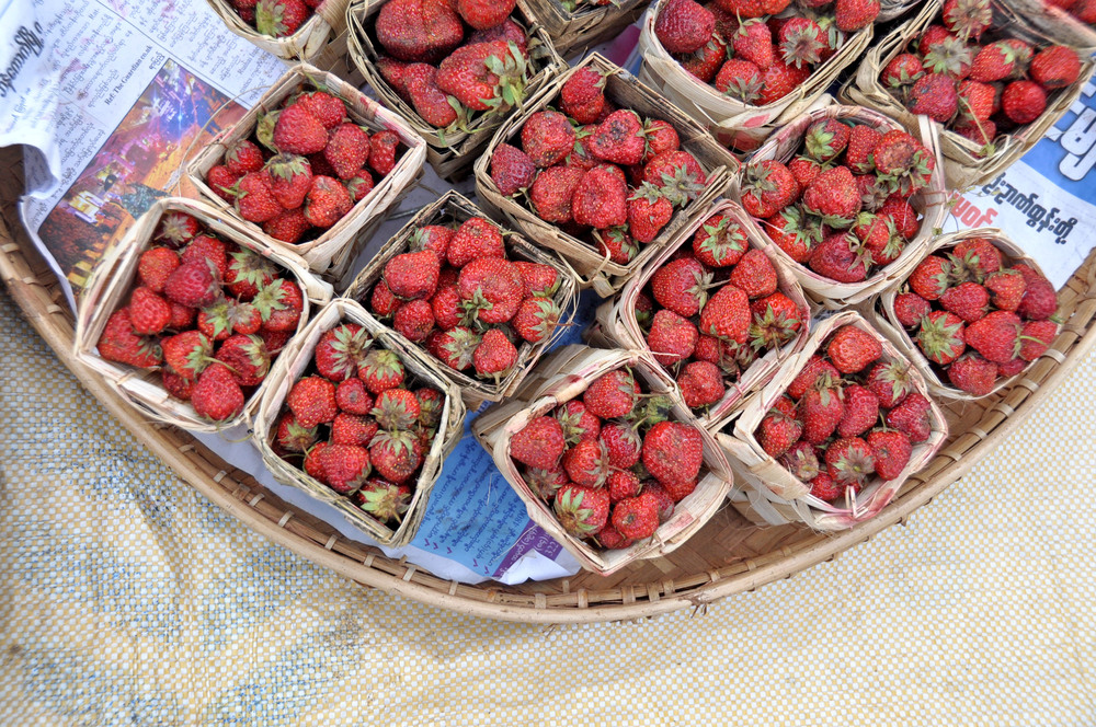 Myanmar Market Strawberries