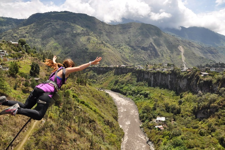 Puenting Bungee Jumping Banos Ecuador