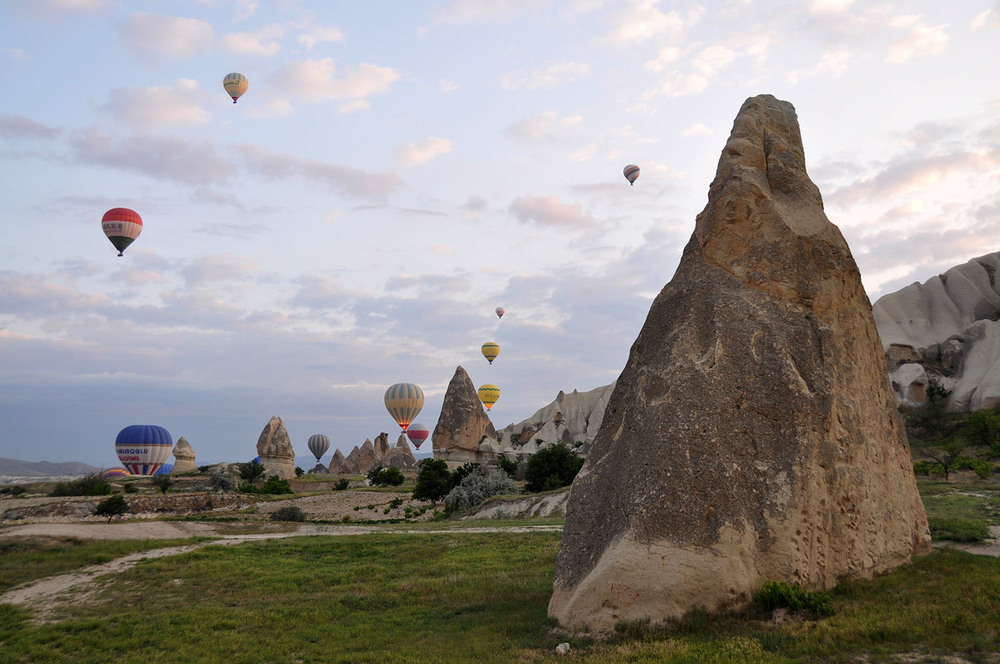 Rocks Hot Air Balloon Ride in Cappadocia Turkey with Turkiye Balloons