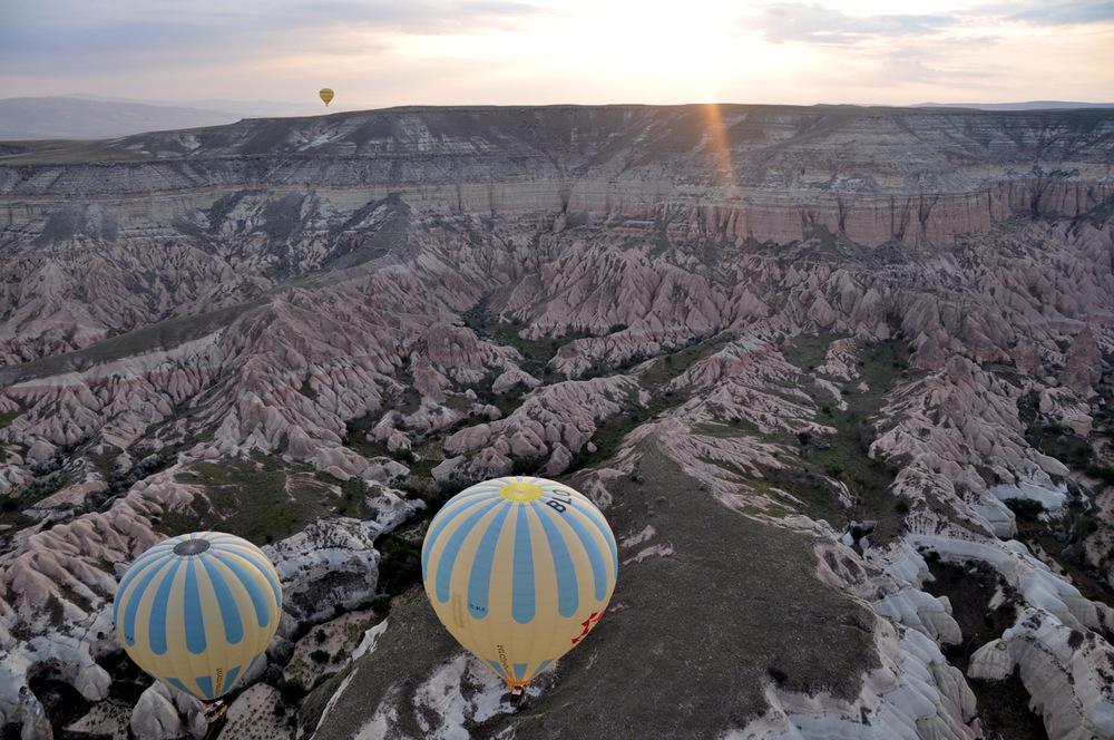 Taking a hot air balloon ride over Cappadocia will surely be the highlight of any trip to Turkey!