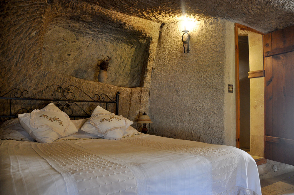 Sleep in a cave!