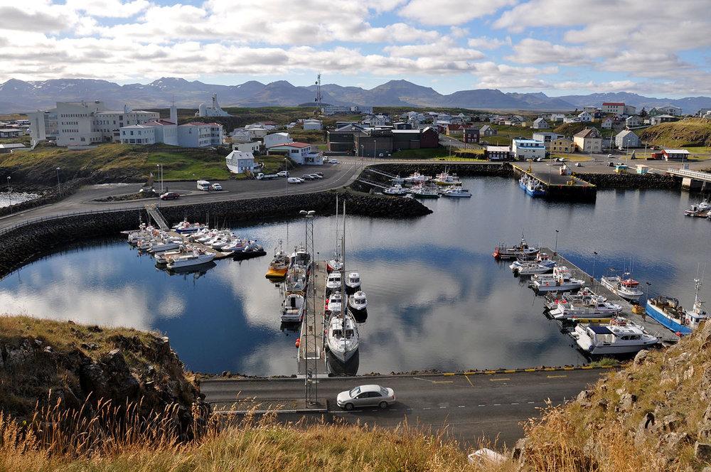 Stykkishólmur Harbor Overlook Iceland