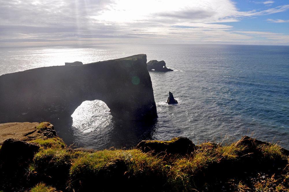 Dyrhólaey Rock formation Iceland