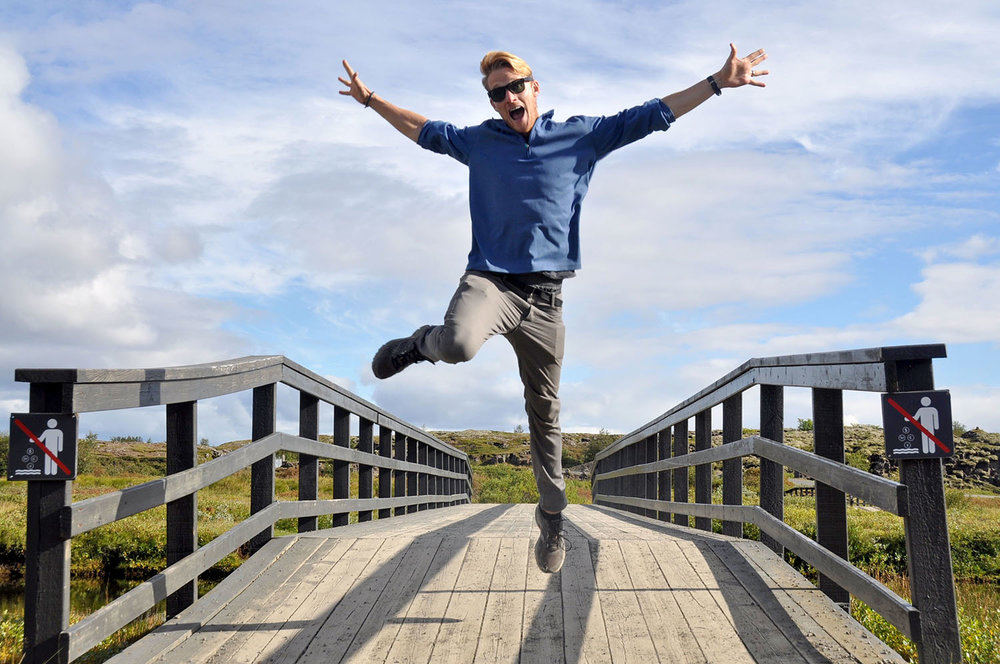 Thingvellir: The Continental Divide Jumping between