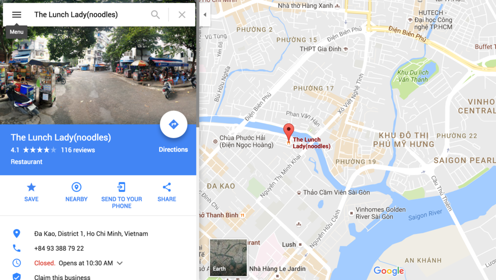 Lunch Lady Saigon Map