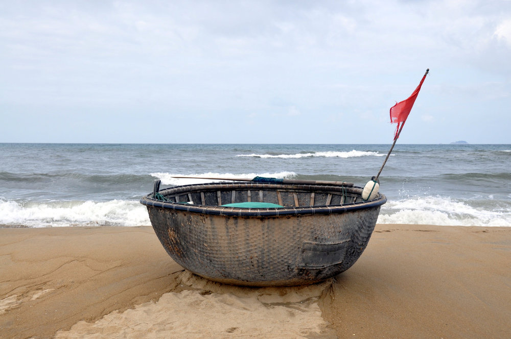 Circle Boat An Bang Beach Hoi An Vietnam