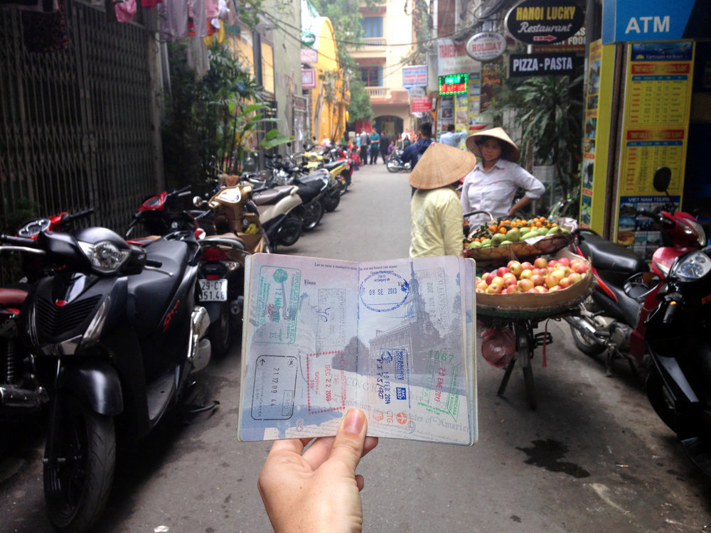 Vietnam Itinerary Passport in Hanoi Street