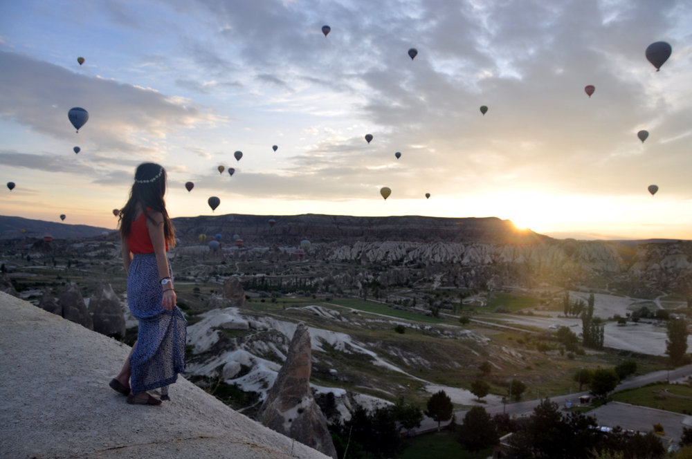 Cappadocia Hot Air Balloons Traveling with a Girl