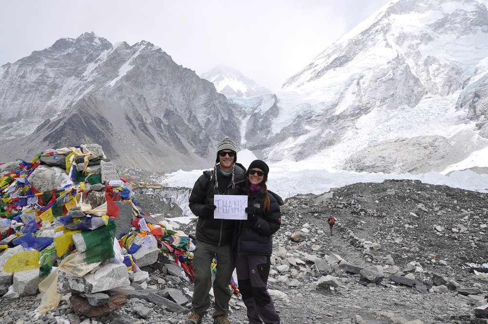 Everest Base Camp Thank You