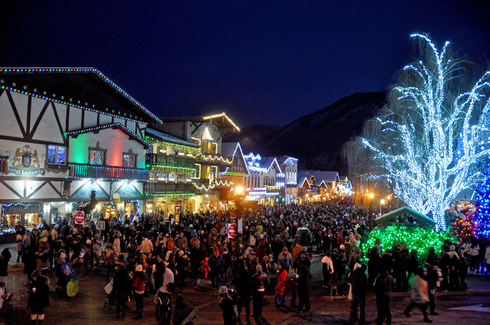 Leavenworth Washington Christmas Lighting