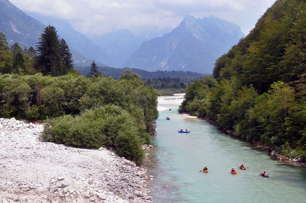 Whitewater kayaking Bovec Slovenia Eastern Europe Highlights