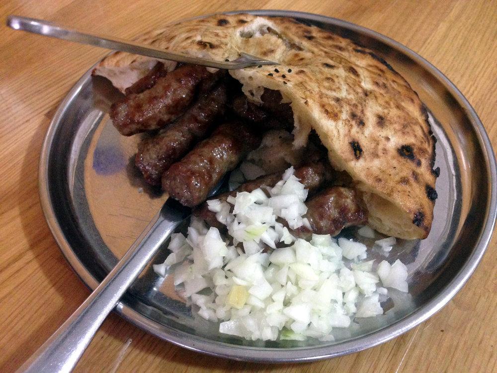 Cevapi, a delicious dish from Bosnia
