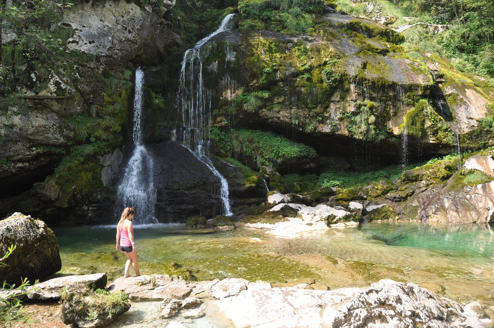 Waterfalls in Bovec, Slovenia visit Eastern Europe