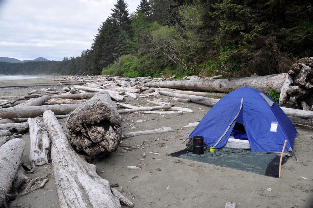 Camping on Shi Shi Beach Olympic Peninsula