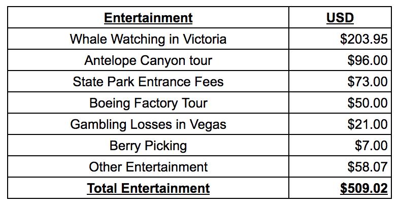 Campervan Budget 3 month Road Trip Entertainment