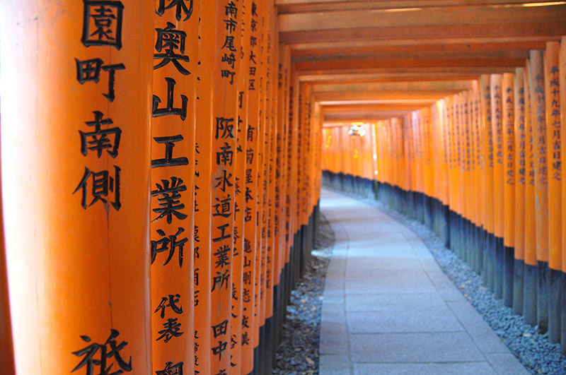 Fushimi Inari Shrine Orange Gates Kyoto Japan