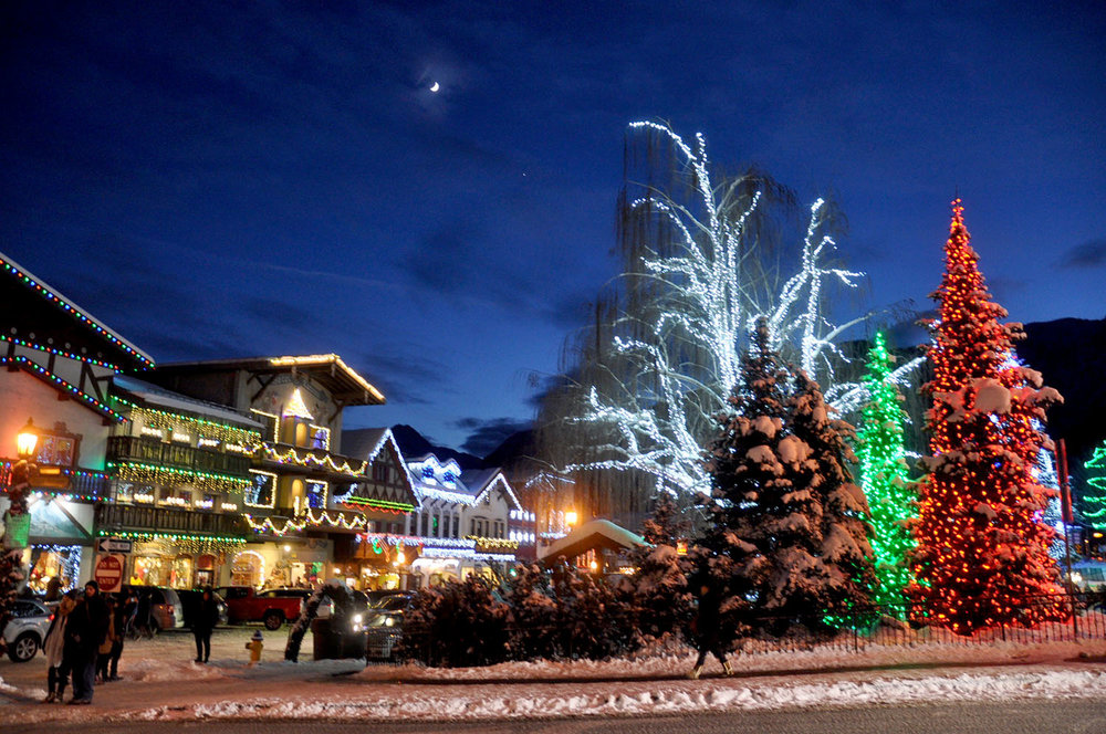 christmas lighting festival leavenworth