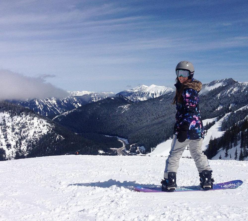 Snowboarding Stevens Pass