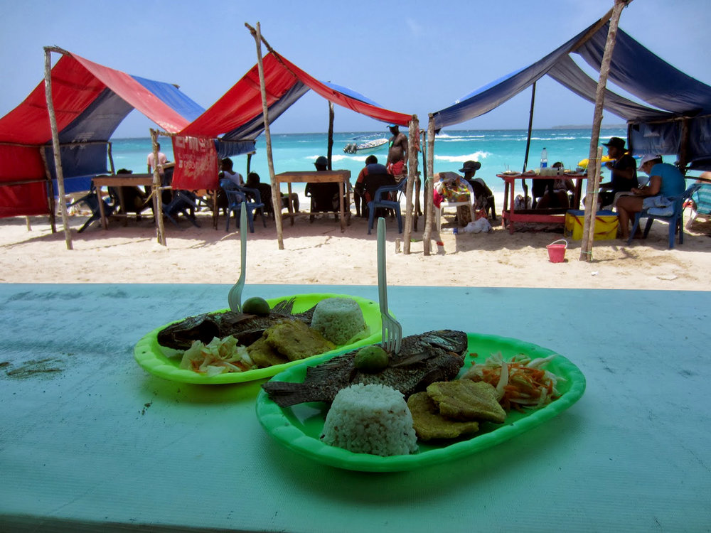 Rosario Islands Fish lunch