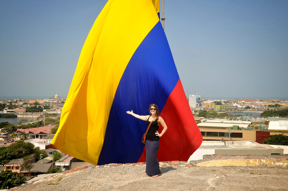 Castillo San Felipe Colombia Flag