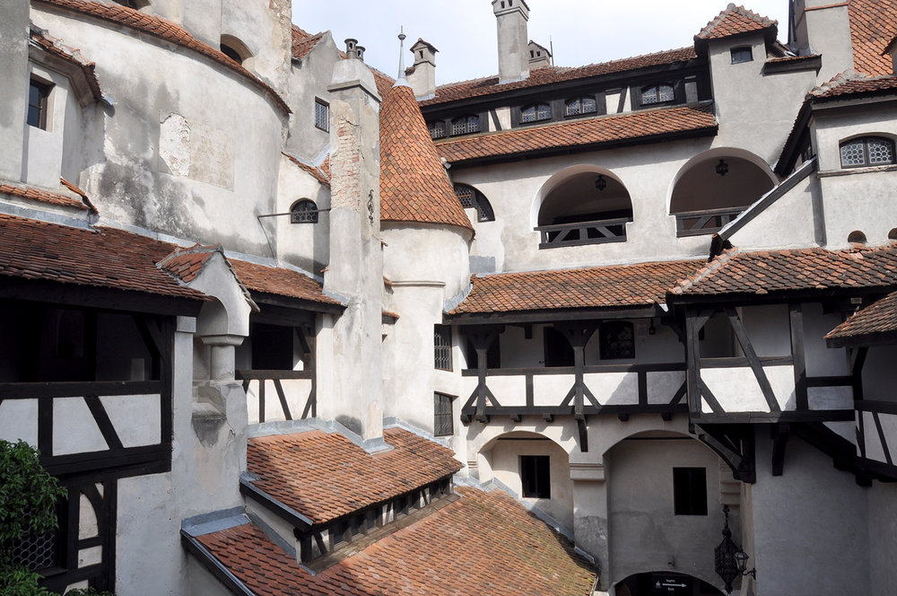 Bran Castle Courtyard Brasov Romania