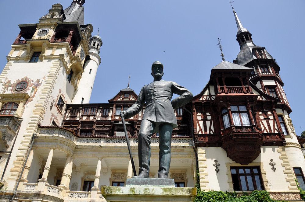 Peles Castle Brasov Romania Garden