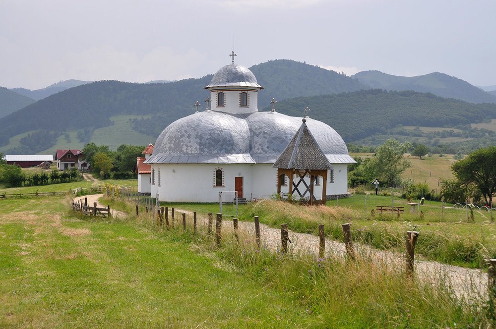 Church countryside near Sibiu Romania