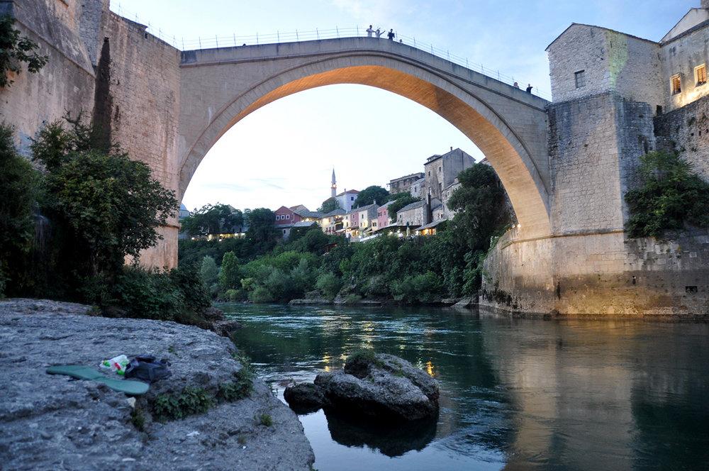 Stari Most Old Bridge Mostar Bosnia Travel