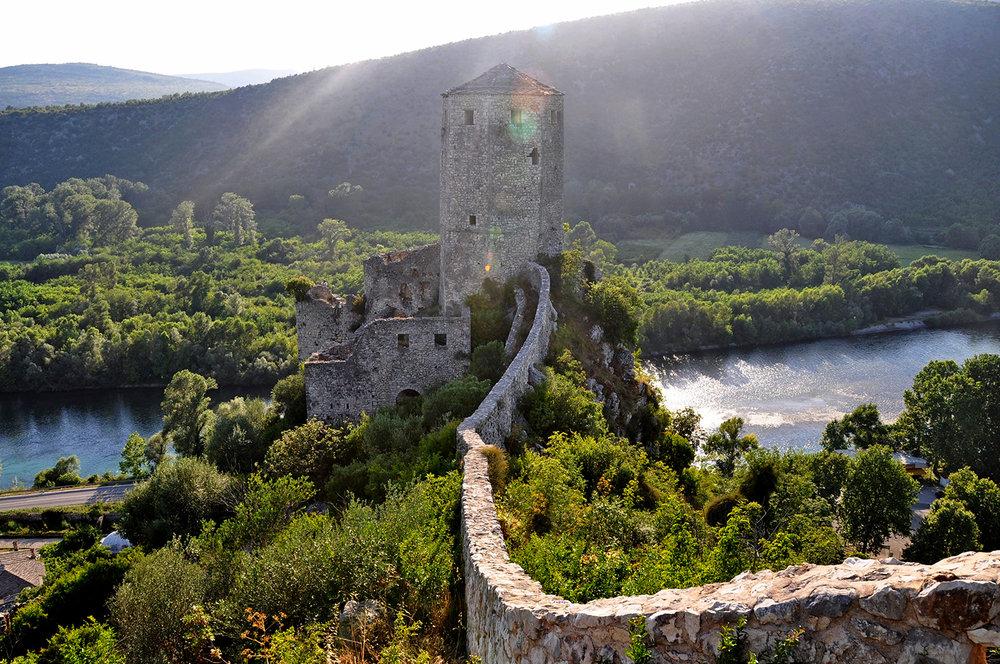 Pocitelj Medieval Town Mostar Bosnia Travel