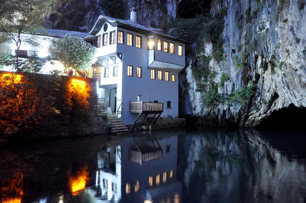 Blagaj Dervish House Monastery Mostar Bosnia Travel