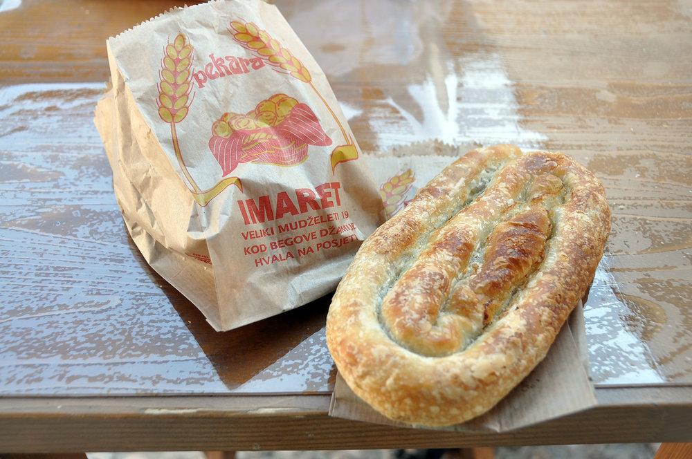 Burek meat filled pastry Bosnia food Travel