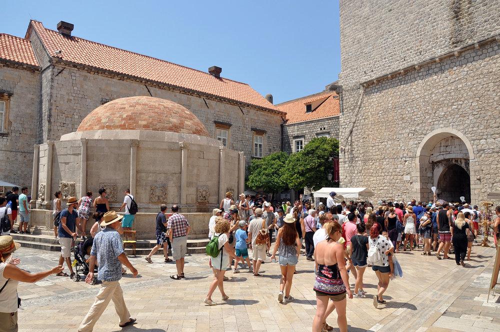 Crowds in Dubrovnik Croatia Travel
